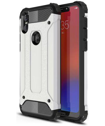 Motorola One Hybride Hoesje Wit Hoesjes