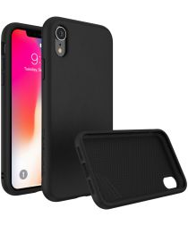 RhinoShield SolidSuit Black Leather iPhone XR Hoesje