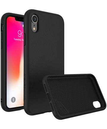 RhinoShield SolidSuit Black Leather iPhone XR Hoesje Hoesjes
