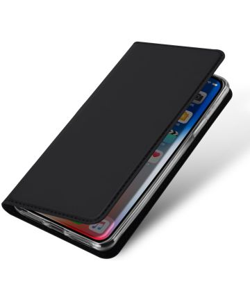 Dux Ducis Apple iPhone X Bookcase Hoesje Zwart