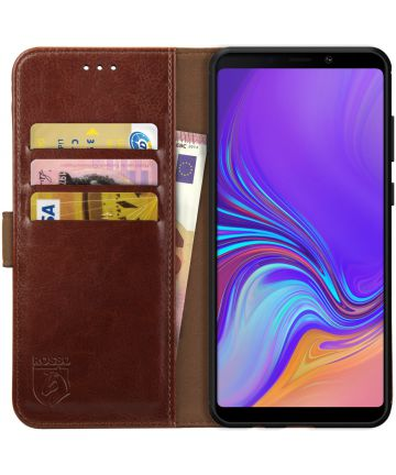 Rosso Element Samsung Galaxy A9 (2018) Hoesje Book Cover Bruin Hoesjes