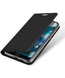 Dux Ducis Nokia 7.1 Premium Bookcase Hoesje Zwart
