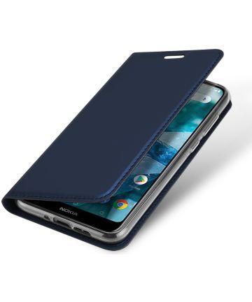Dux Ducis Nokia 7.1 Premium Bookcase Hoesje Blauw