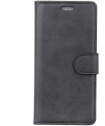 Sony Xperia 10 Plus Kunstlederen Portemonnee Hoesje Zwart