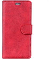 Sony Xperia 10 Plus Kunstlederen Portemonnee Hoesje Rood