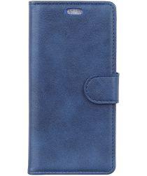 Sony Xperia 10 Plus Kunstlederen Portemonnee Hoesje Blauw