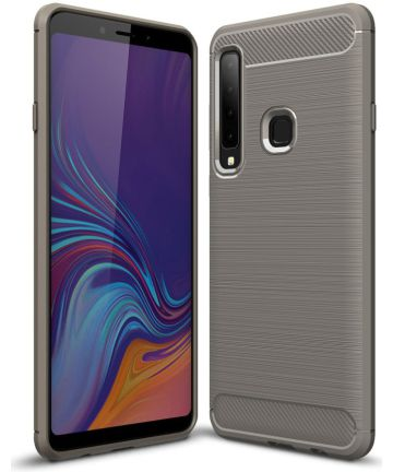 Samsung Galaxy A9 (2018) Geborsteld TPU Hoesje Grijs