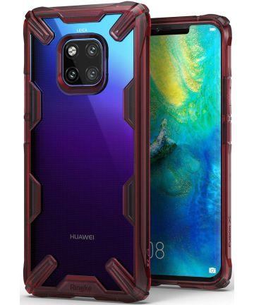 Ringke Fusion X Huawei Mate 20 Pro Hoesje Doorzichtig Rood Hoesjes