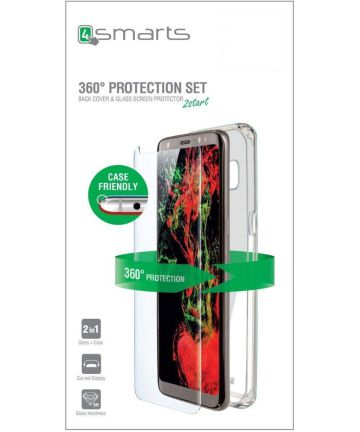 4smarts Tempered Glass en TPU Hoesje Huawei P Smart Plus Transparant