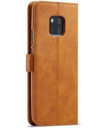 Huawei Mate 20 Pro Stand Portemonnee Bookcase Hoesje Bruin