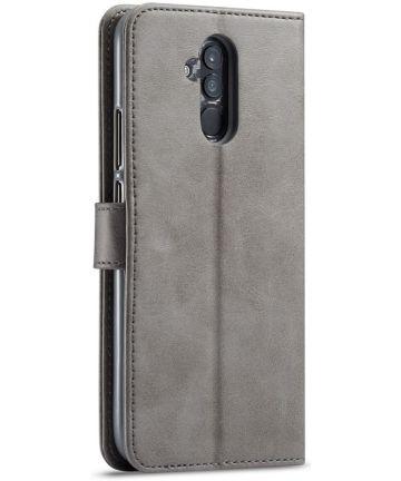 Huawei Mate 20 Lite Portemonnee Stand Bookcase Hoesje Grijs