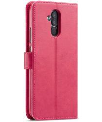 Huawei Mate 20 Lite Portemonnee Stand Bookcase Hoesje Roze