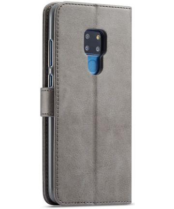 Huawei Mate 20 Stand Portemonnee Bookcase Hoesje Grijs