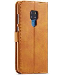 Huawei Mate 20 Stand Portemonnee Bookcase Hoesje Bruin