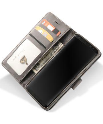Samsung Galaxy S9 Book Case Portemonnee Bookcase Hoesje Grijs Hoesjes