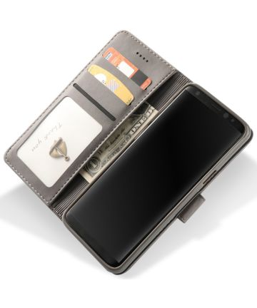 Samsung Galaxy S9 Book Case Portemonnee Bookcase Hoesje Grijs