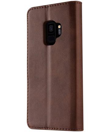 Samsung Galaxy S9 Book Case Portemonnee Bookcase Hoesje Coffee Hoesjes