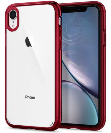 Spigen Ultra Hybrid Case Apple iPhone XR Red Hoesjes