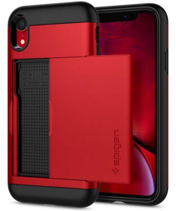 Spigen Slim Armor Hoesje Apple iPhone XR Red Hoesjes