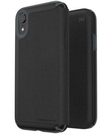 Speck Presidio Apple iPhone XR Leren Bookcase Zwart Pashouder