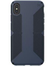 Speck Presidio Apple iPhone XS Max Hoesje Blauw Hard Plastic Grip