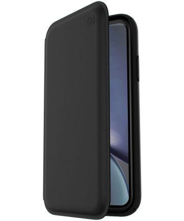 Speck Presidio Echt Leren Book Case Apple iPhone XR Hoesje Zwart