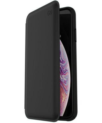 Speck Presidio Apple iPhone XS Max Hoesje Zwart Echt Leer Hoesjes