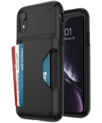 Speck Presidio Apple iPhone XR Hoesjer Zwart Wallet Shockproof