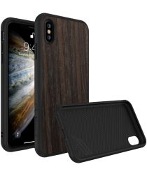RhinoShield SolidSuit Black Oak iPhone X Hoesje
