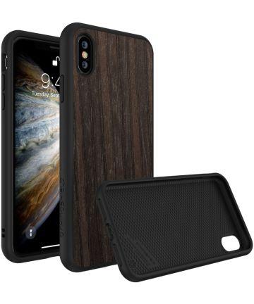 RhinoShield SolidSuit Black Oak iPhone X Hoesje Hoesjes