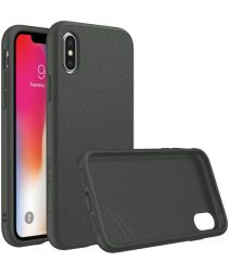 RhinoShield SolidSuit Microfiber iPhone XS Hoesje Zwart