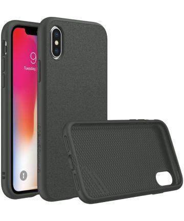 RhinoShield SolidSuit Microfiber iPhone XS Hoesje Zwart