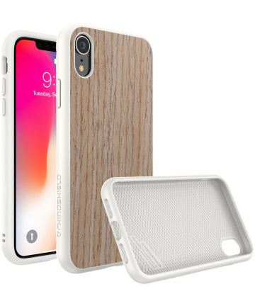 RhinoShield SolidSuit Light Walnut iPhone XR Hoesje Hoesjes