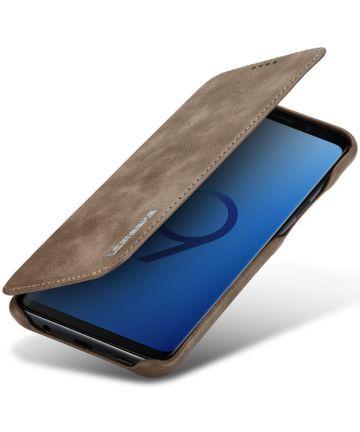 Samsung Galaxy S9 Plus Retro Bookcase Hoesje met Kaarthouder Coffee