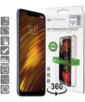 4smarts Tempered Glass + TPU Hoesje Xiaomi Pocophone F1 Transparant Hoesjes