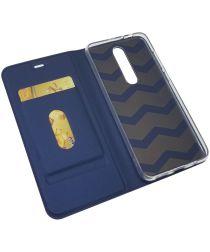 Nokia 5.1 Plus Hoesje met Kaarthouder Blauw