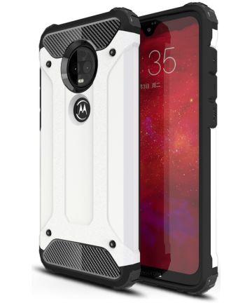 Motorola Moto G7 Hybride Hoesje Wit Hoesjes
