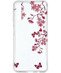 Samsung Galaxy A7 (2018) TPU Hoesje met Bloemen Print