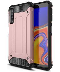 Samsung Galaxy A7 (2018) Hybride Hoesje Roze Goud