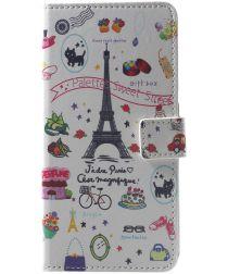 Xiaomi Pocophone F1 Portemonnee Hoesje met Eiffeltoren Print
