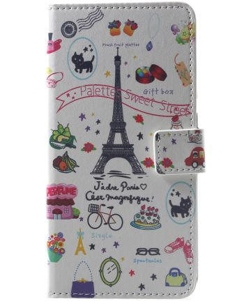 Xiaomi Pocophone F1 Portemonnee Hoesje met Eiffeltoren Print Hoesjes