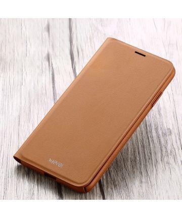 X-Level Flip Hoesje met Kaarthouder Apple iPhone XS Bruin