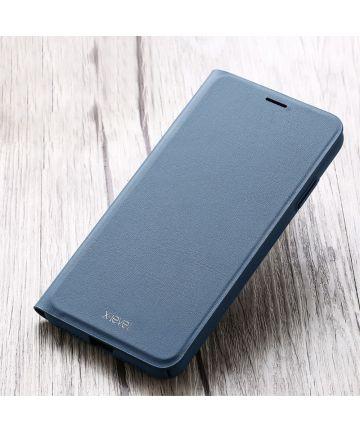 X-Level Flip Hoesje met Kaarthouder Apple iPhone XS Blauw Hoesjes