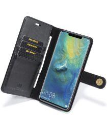 Huawei Mate 20 Pro Echt Leren 2-in-1 Portemonnee Hoesje Zwart