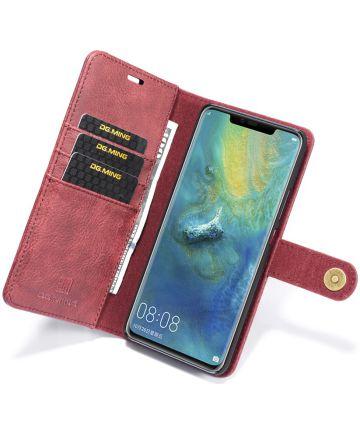 Huawei Mate 20 Pro Echt Leren 2-in-1 Portemonnee Hoesje Rood