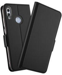 Huawei P Smart (2019) Luxe Portemonnee Hoesje Zwart