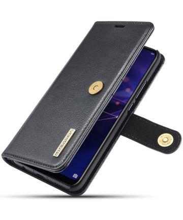 Huawei Mate 20 Lite Echt Leren 2-in-1 Portemonnee Hoesje Zwart Hoesjes