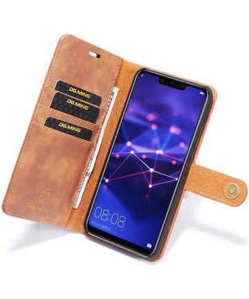Huawei Mate 20 Lite Echt Leren 2-in-1 Portemonnee Hoesje Bruin Hoesjes