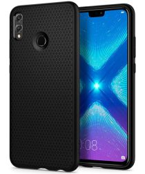 Spigen Liquid Air Back Cover Hoesje Apple Honor 8X Zwart