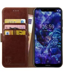 Rosso Element Nokia 5.1 Plus Hoesje Book Cover Bruin